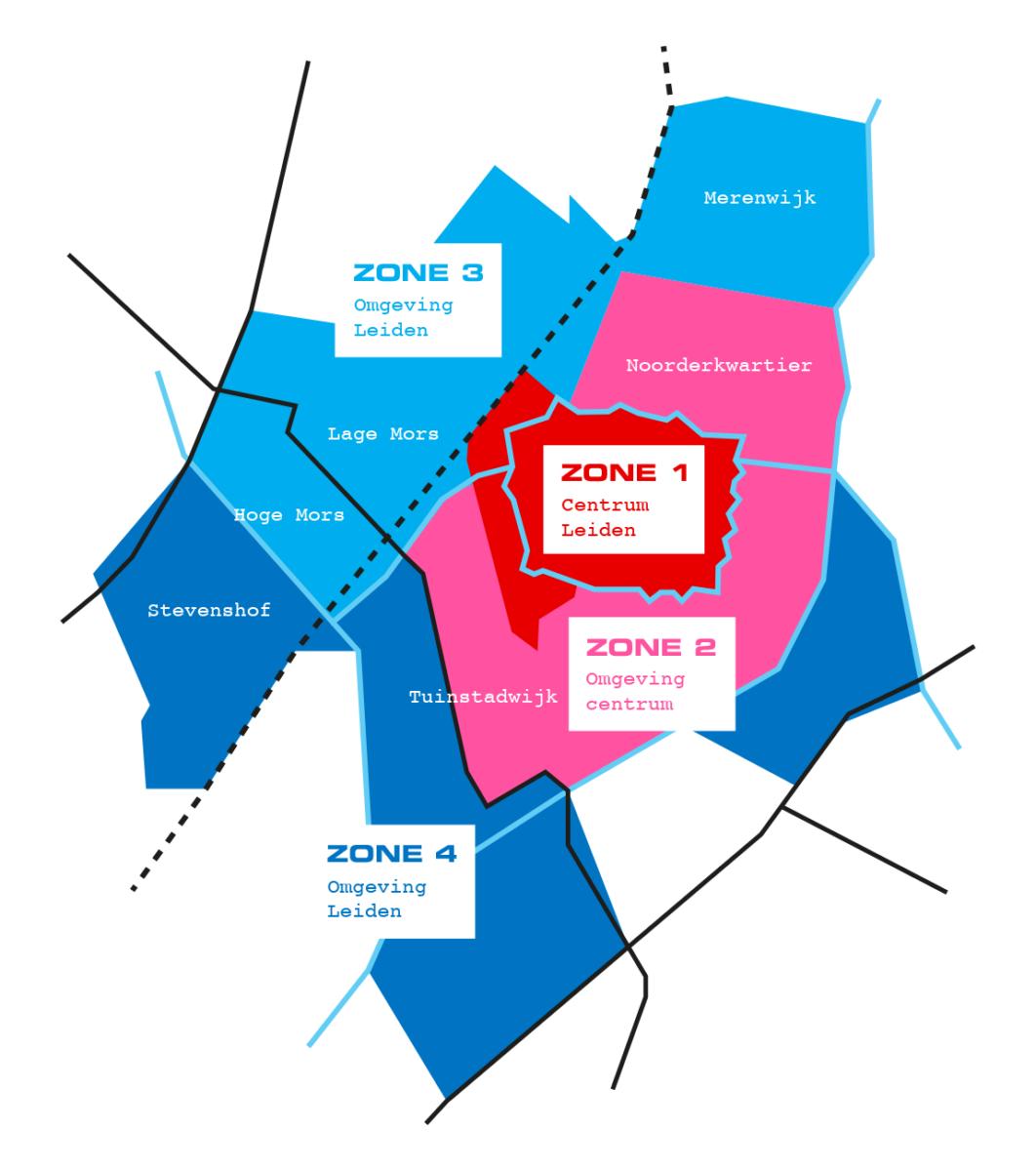 Kaart Leiden